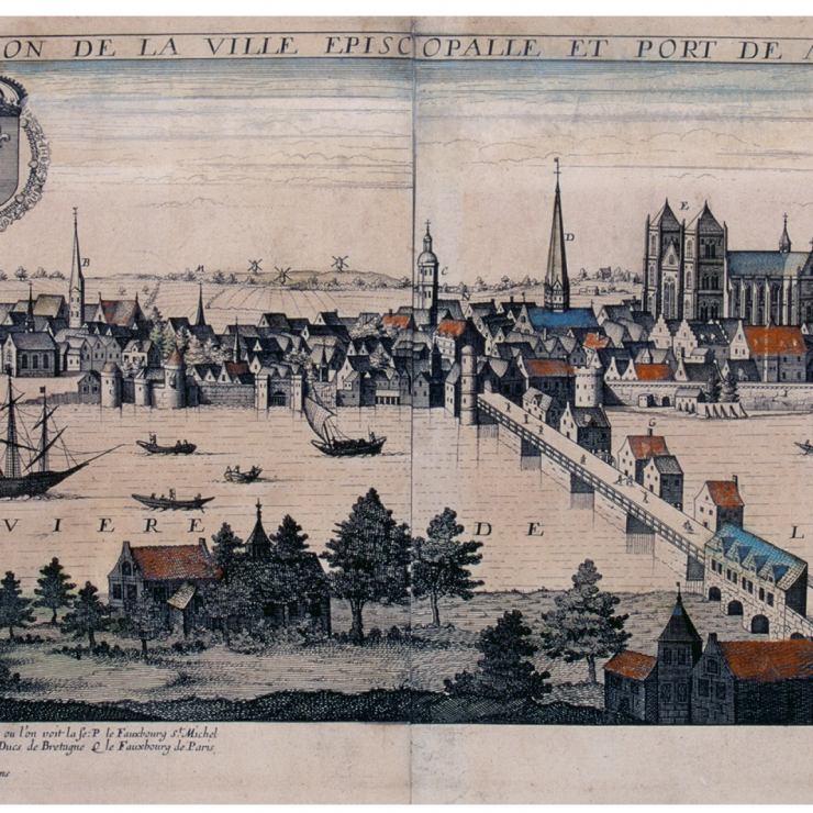 A new description of the episcopal see and seaport of Nantes, in Brittany. Credit: Jean Boisseau, 1645.