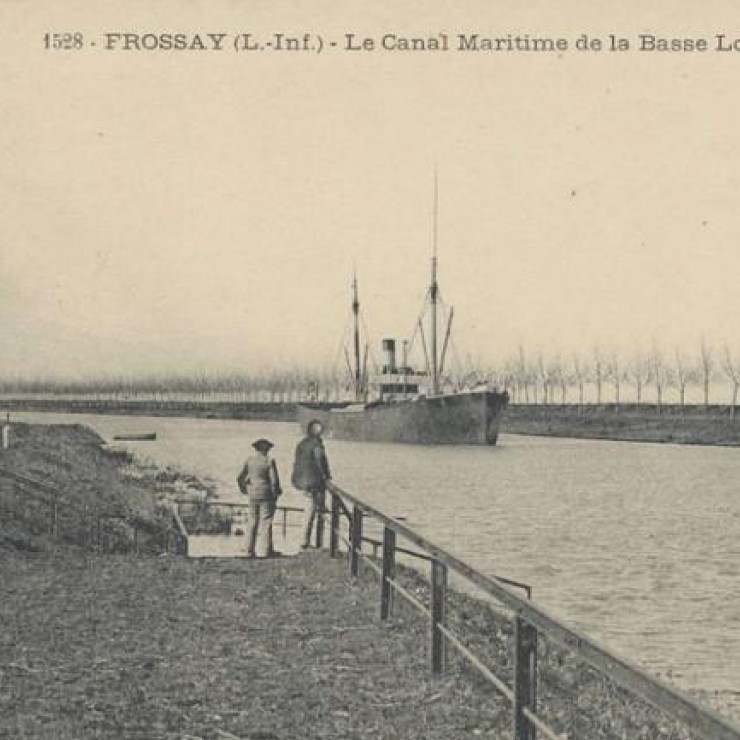 The Basse-Loire ship canal. Credit: Municipality of Frossay.